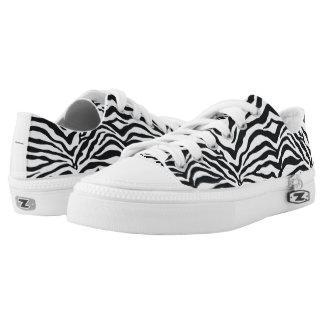 Zebra Animal Print Pattern Lace Up Sneakers