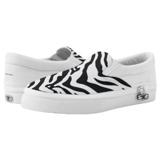 Zebra Animal Print Pattern Slip-On Sneakers