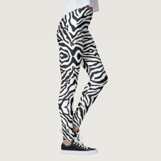 Zebra Animal Print Pattern Women's Leggings