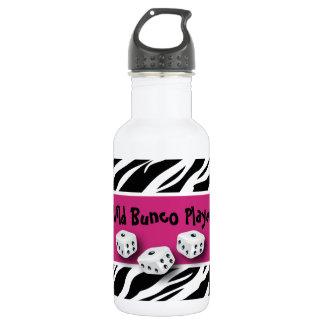 Zebra Animal Print WIld Bunco Player 18oz Water Bottle