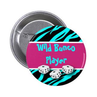 Zebra Animal Print WIld Bunco Player Pins