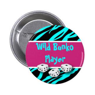 Zebra Animal Print Wild Bunko Player Button