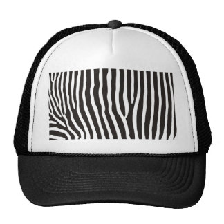 zebra animal skin print trucker hats