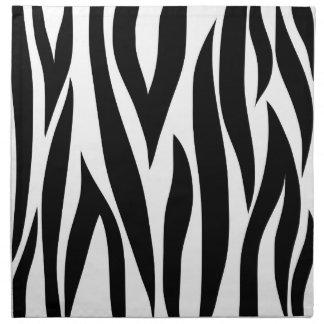 Zebra animal stripes pattern napkin