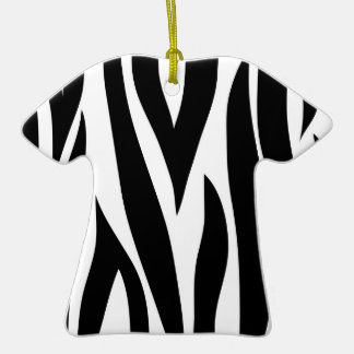 Zebra animal stripes pattern Double-Sided T-Shirt ceramic christmas ornament