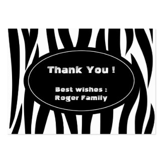 Zebra animal stripes pattern pack of chubby business cards