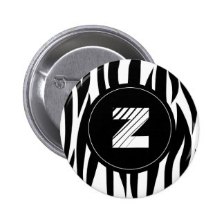 "Zebra animal stripes with ""Z"" monogram Pins"