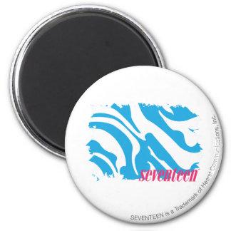 Zebra Aqua 4 2 Inch Round Magnet