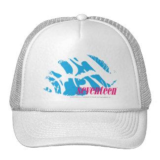 Zebra Aqua Trucker Hats