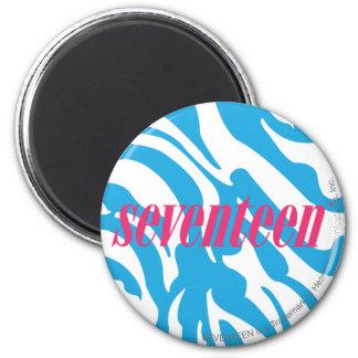 Zebra Aqua 2 Inch Round Magnet
