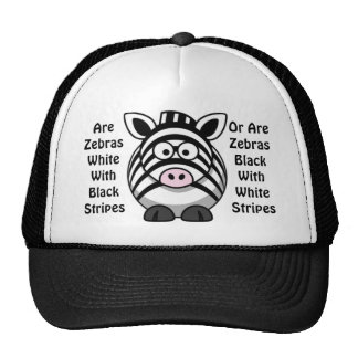 Zebra Art Hats