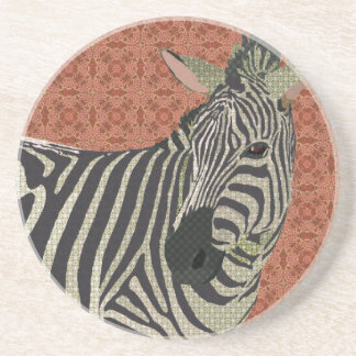 Zebra Art Pink Coaster