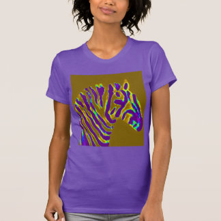 Zebra Art Purple Glow T-Shirt