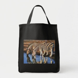 Zebra at the Watering Hole Tote Bag