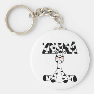 Zebra Baby Tshirts and Gifts Keychain