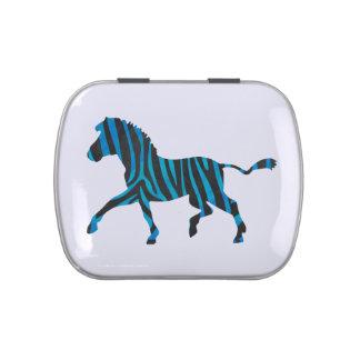 Zebra Black and Blue Silhouette
