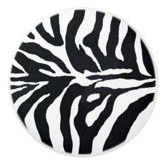 Zebra Black and White Animal Print Cabinet Pulls