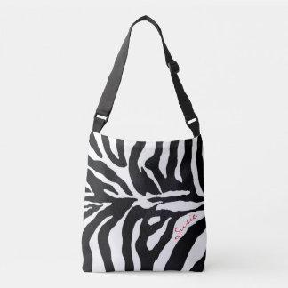 Zebra Black and White Animal Print Fashion Tote