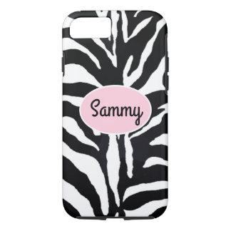 Zebra Black and White Animal Print Pink iPhone 7 iPhone 7 Case