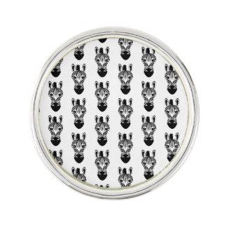 Zebra Black and White Lapel Pin