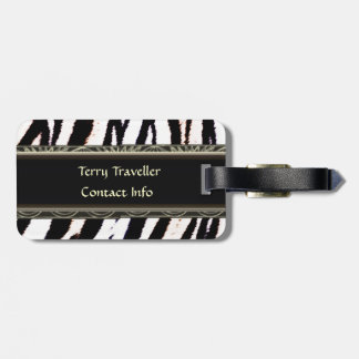 Zebra Black and White Personalized Luggage Tags