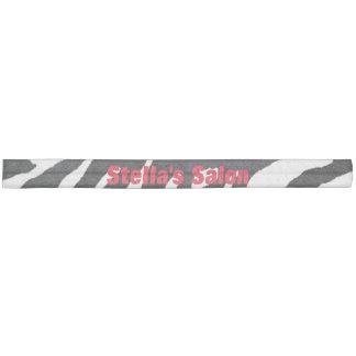 Zebra Black and White Salon Custom Hair Tie