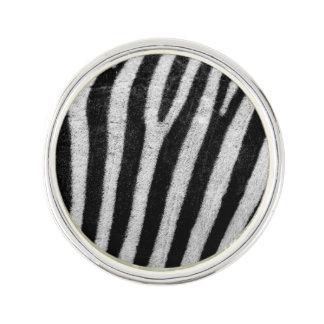Zebra Black and White Striped Skin Texture Templat Lapel Pin