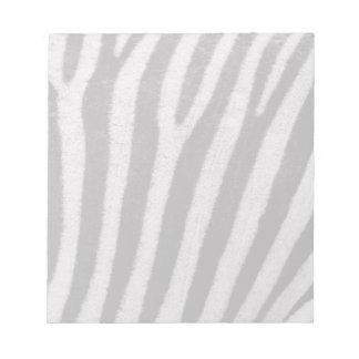 Zebra Black and White Striped Skin Texture Templat Notepad