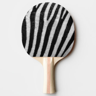 Zebra Black and White Striped Skin Texture Templat Ping-Pong Paddle