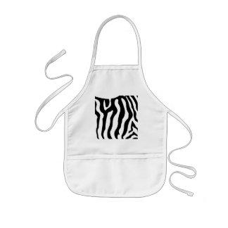 Zebra Black & White stripe pattern Kids Apron