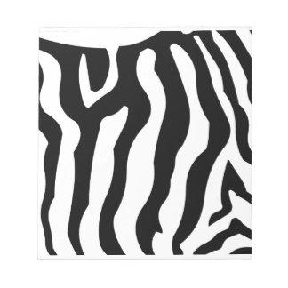 Zebra Black & White stripe pattern Notepads