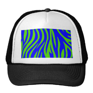 Zebra Blue and Green Abstract Art Trucker Hat
