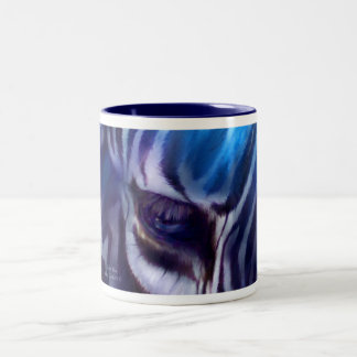 Zebra Blue Art Mug