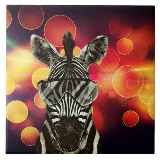 Zebra Bokeh Style Ceramic Tiles