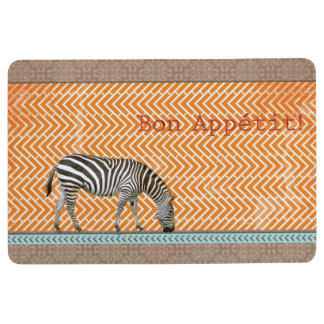 Zebra Bon Appetit Kitchen Floor Mat