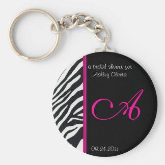 Zebra Bridal Shower Keychain