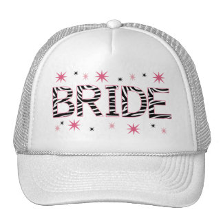 Zebra Bride Trucker Hat