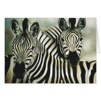 """Zebra Buddies"" Card"