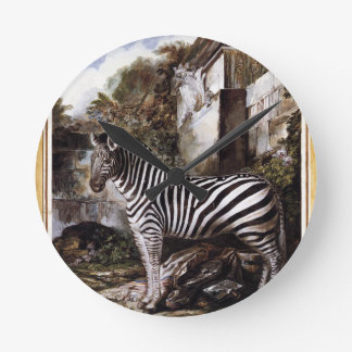 Zebra by Luis Paret y Alcazar Clocks
