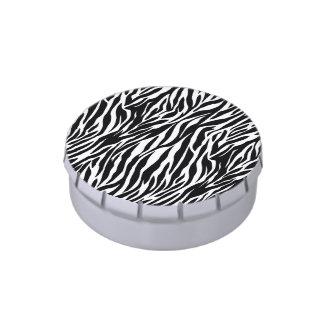 Zebra candy tin