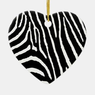 Zebra Ceramic Ornament