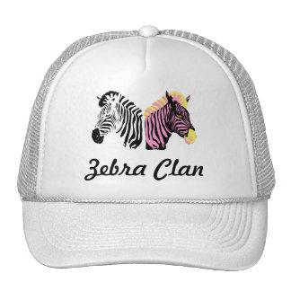 Zebra Clan White Truck hat