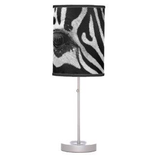 Zebra cloe-up table lamp