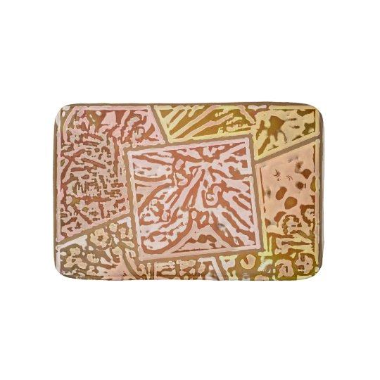 Zebra Collage Tiles Mat Bath Mat
