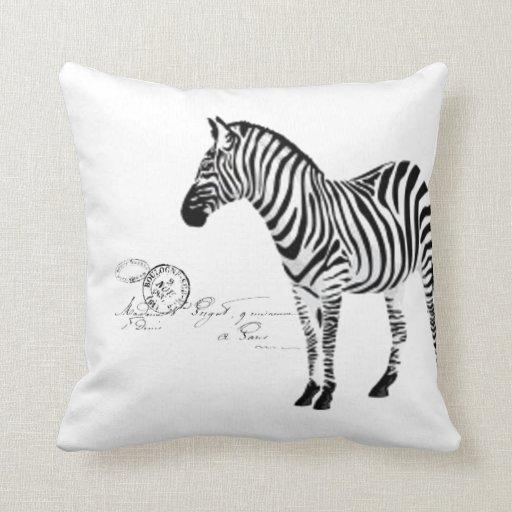 Zebra Collection - Paris Handwriting Pillow