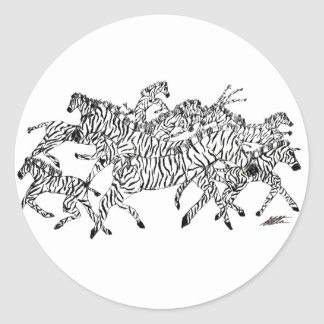 Zebra Confusion Camouflage - Stickers