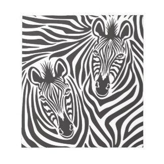 Zebra Couple Notepad