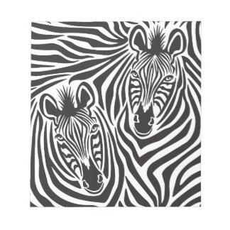 Zebra Couple Notepads