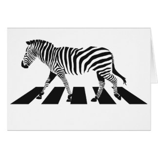 Zebra Crossing Card