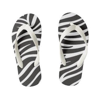 Zebra Custom Flip Flops, Kids Kid's Flip Flops